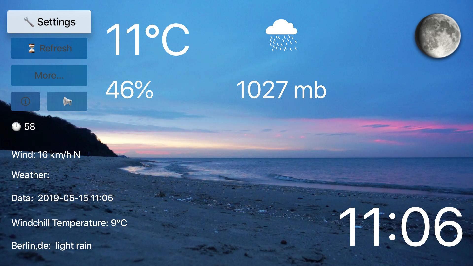 TV Beach Weather screenshot 1