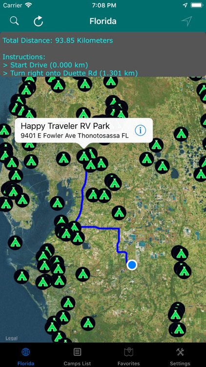 Florida – Campgrounds & RV's