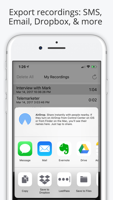 Call Recorder Pro - Record Phone Calls for iPhone screenshot