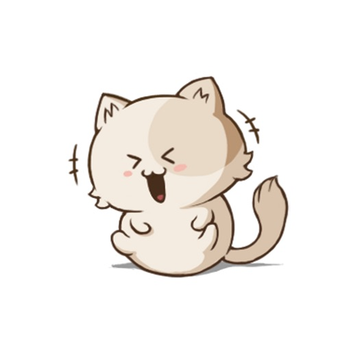 White Fur Pur Cat Animated icon