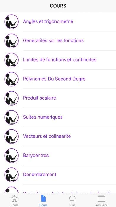 Maths Première S screenshot 2