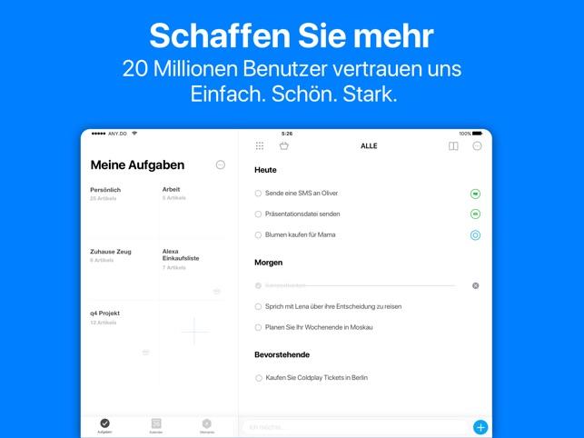 Any.do: Aufgabenliste Kalender Screenshot