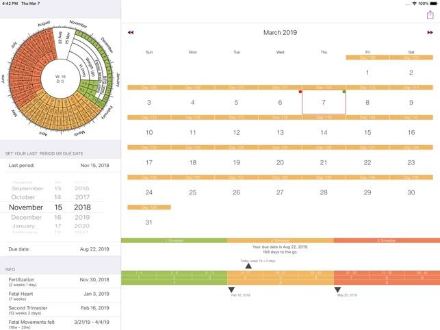Calendario Delle Settimane Di Gravidanza.Calendario Della Gravidanza Su App Store