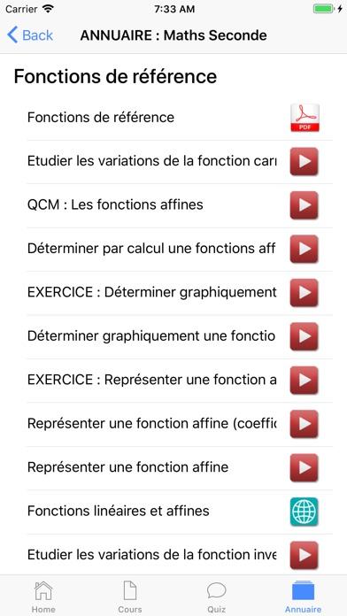 Maths Seconde screenshot 7