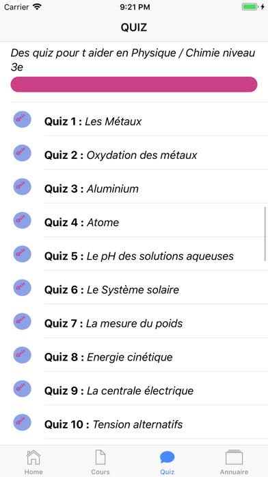 Cours de Chimie screenshot 3