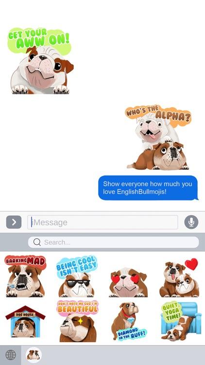 English Bulldog Emoji Stickers