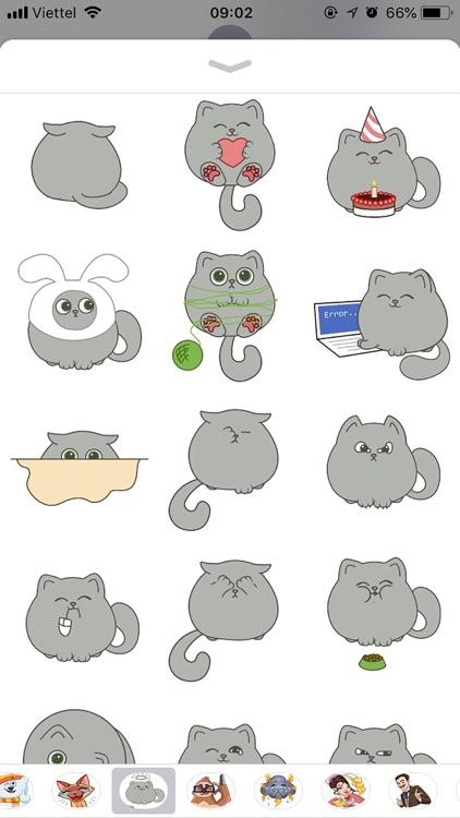 Cute Cat Emoji Funny Stickers