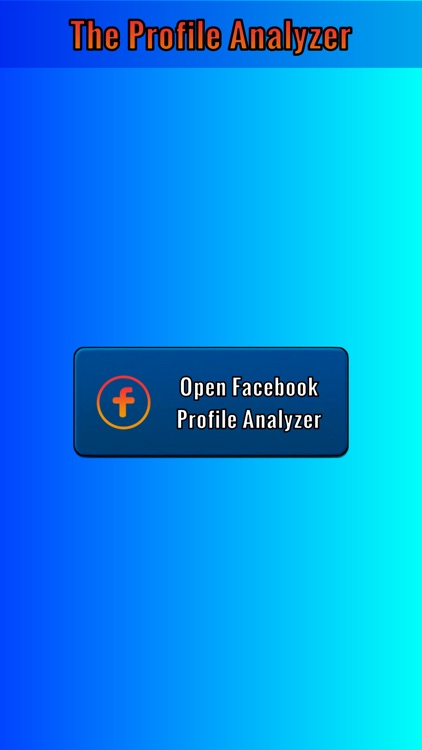 Profile analyser for Facebook