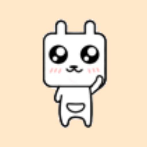 方块兔贴纸