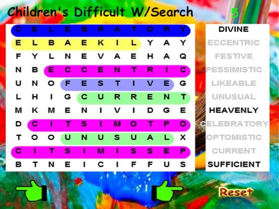 Kids Difficult Word Search screenshot 6