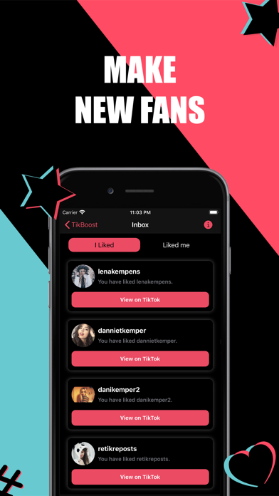 TikBoost: Get Followers & Fans Screenshot
