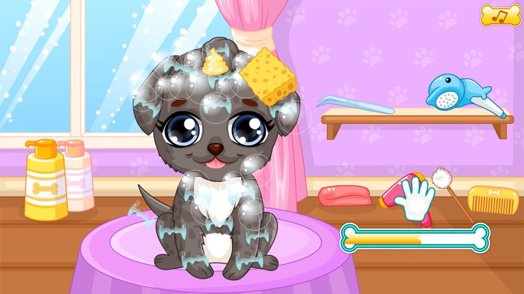Puppy makeover hair salon