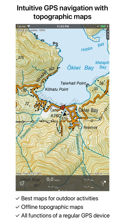 Topographic Map Of New Zealand.Topo Gps New Zealand By Rdzl