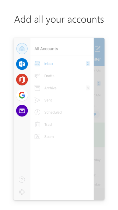 Screenshot for Microsoft Outlook in South Africa App Store
