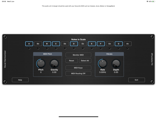 Vocal Harmonizer AUv3 Plugin screenshot 7