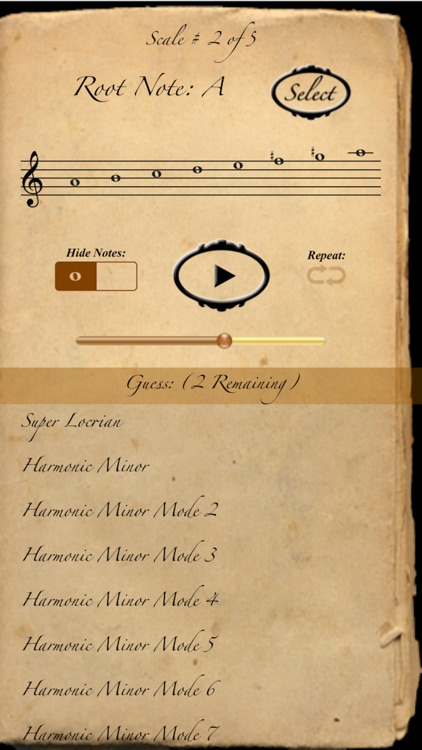 Scales & Modes: The Quiz screenshot-4