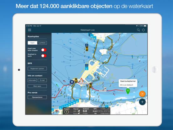 Waterkaart Live iPad app afbeelding 1