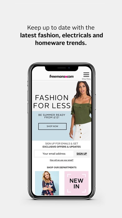 Freemans - Fashion & Home screenshot one