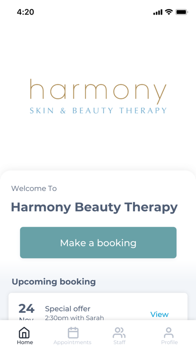 Harmony Beauty Therapy screenshot one