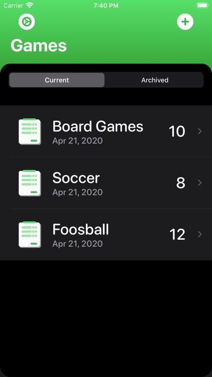 Score Tracking and Statistics