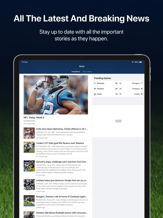 Pro Football Live for iPad screenshot-4