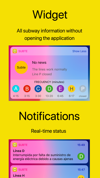 Subte review screenshots