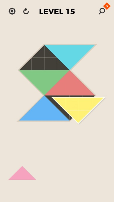 Screenshot for ZEN Block™-tangram puzzle game in Singapore App Store