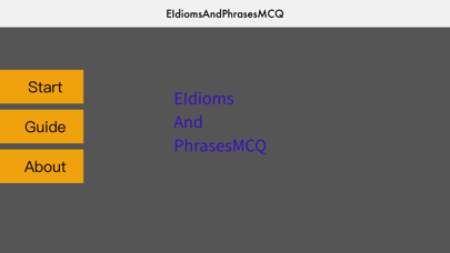 Screenshot of EIdiomsAndPhrasesMCQ App