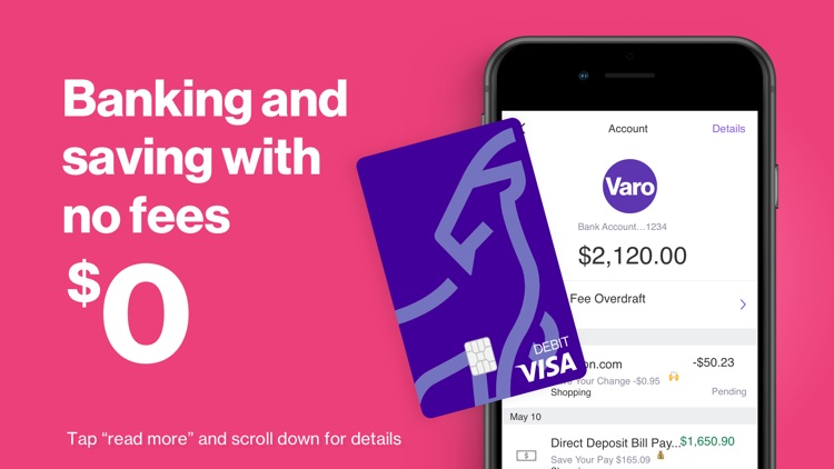 Varo: No Fee Mobile Banking screenshot-0