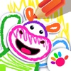 婴儿童游戏早教幼儿游戏涂色动物小宝宝3岁-6岁少儿画画游戏