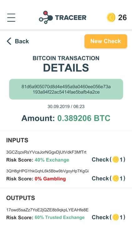 Traceer - check Bitcoins screenshot-4