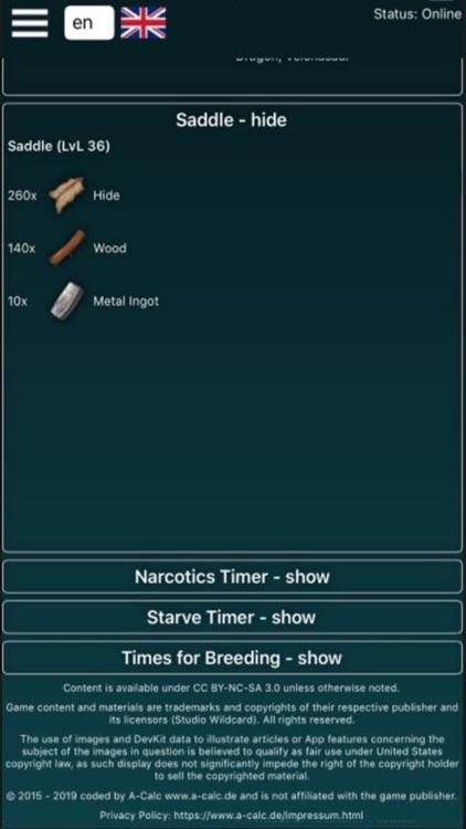 A-Calc for Ark Survival Evolve screenshot-3