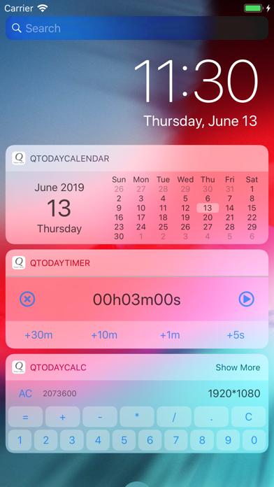 Lock Screen Apps :QTodayApps Screenshot