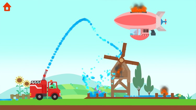 Dinosaur Fire Truck: Kids Game screenshot-4