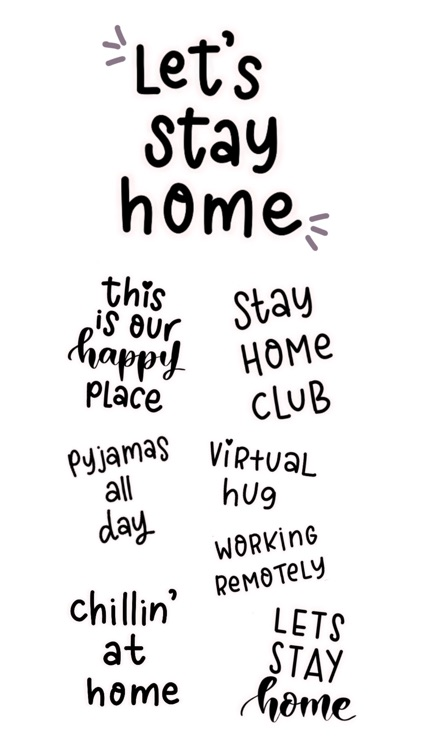 Stay Home Stickers