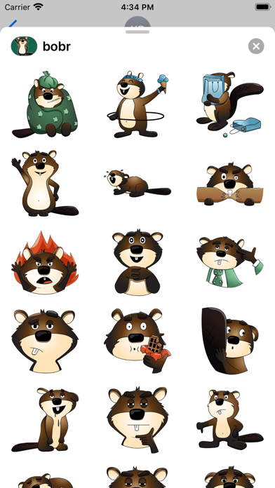 Beaver stickers for Messages screenshot 1