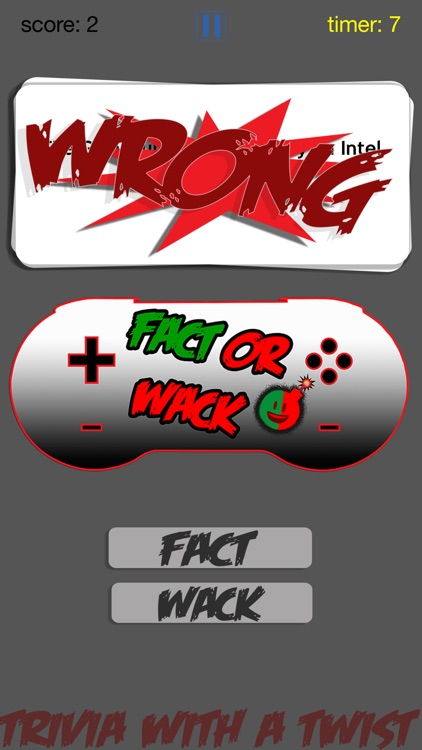 FACT OR WACK video games