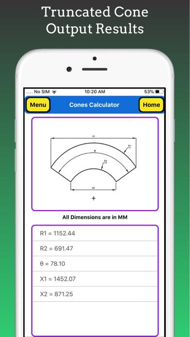Cones Calculator screenshot 4