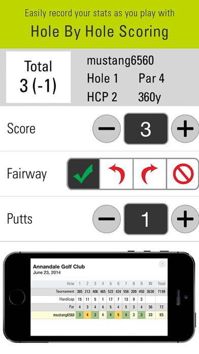 SkyCaddie Mobile Golf GPS Screenshot