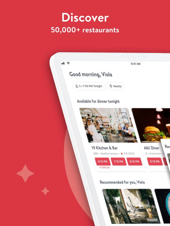 OpenTable - Restaurant Reservations, Reviews, Menus, Local Food & Dining screenshot