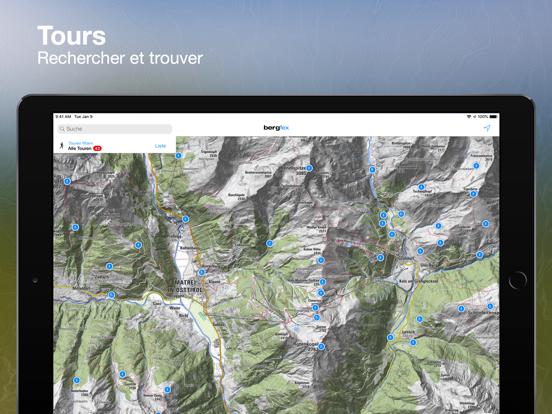 Screenshot #4 pour Tours Bergfex et suivi GPS
