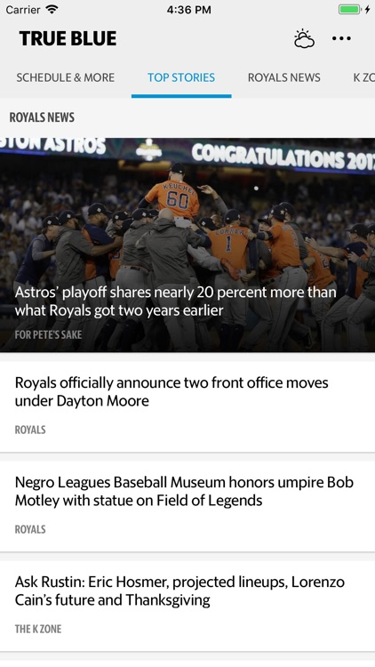 True Blue–Royals Baseball News by The McClatchy Company