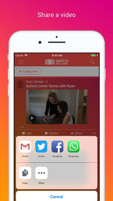 Watch and Learn Video Sharing screenshot three