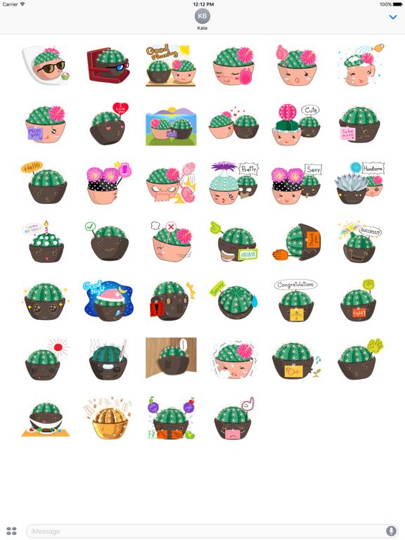 Cute Cactus Couple Emoji screenshot 6