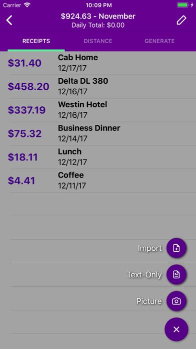 Screenshot #3 pour Smart Receipts