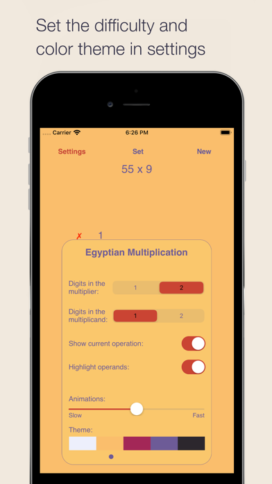 Egyptian Multiplication Method Screenshots
