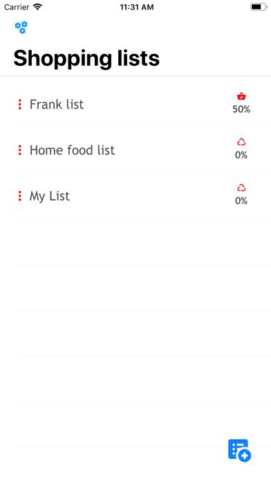 QuickList simple Shopping List screenshot one