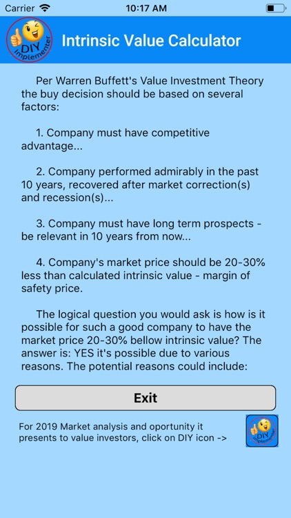Intrinsic Value Calculator DIY screenshot-3