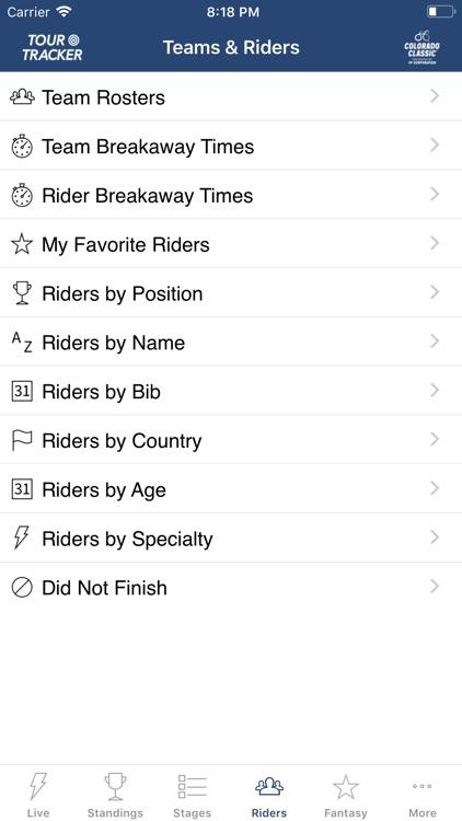 Colorado Classic Tour Tracker screenshot-6