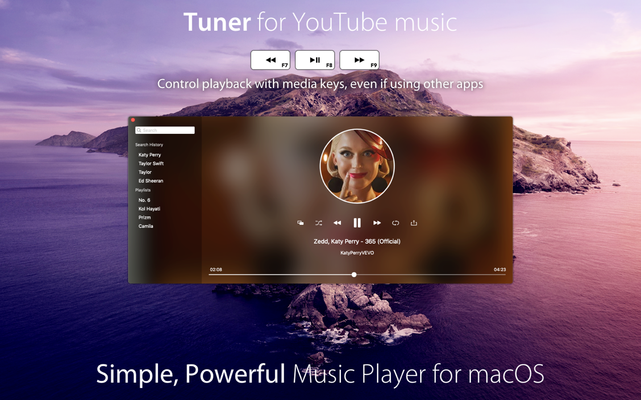Tuner for YouTube music 5.0 Mac 破解版 基于 YouTube的无限音乐库